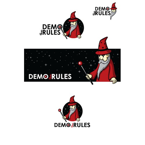 "Logo for board game company ""Demo the Rules"""