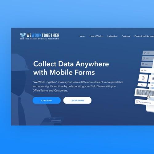 We Work Together - Website Design Concept