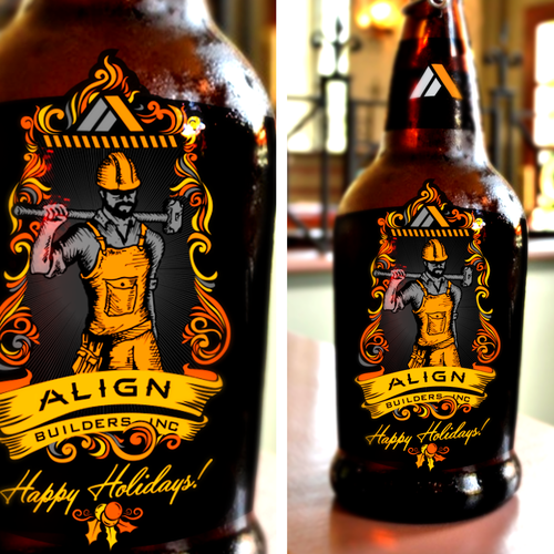 Kick ass beer bottle label for client holiday gifts