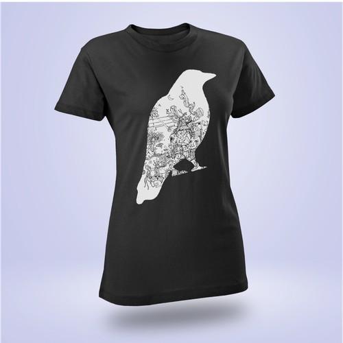 Black and white tshirt design