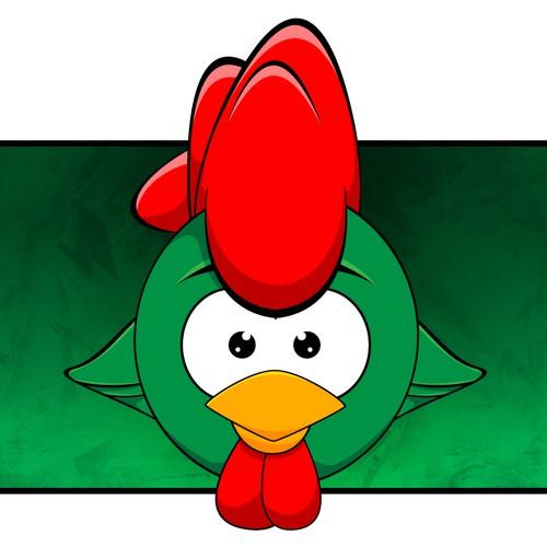 Chicken illustration concept