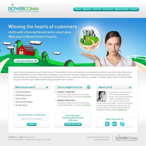 Energetic marketing consultant needs inspired website