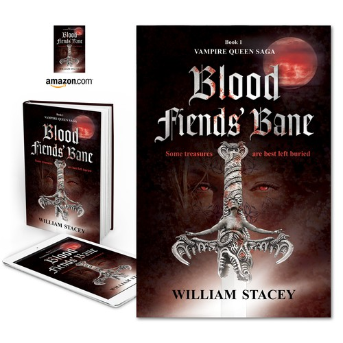 "Book cover for ""Blood Fiends' Bane"" by William Stacey"