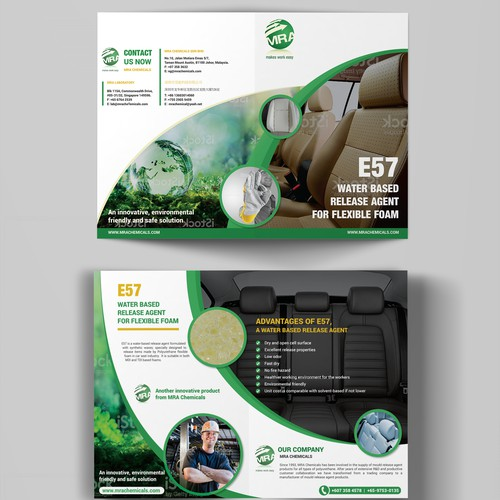 Design a brochure for an environmentally friendly chemical product