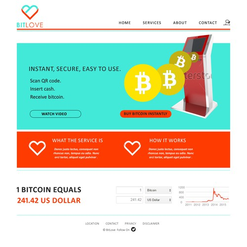 A simple bitcoin webdesign