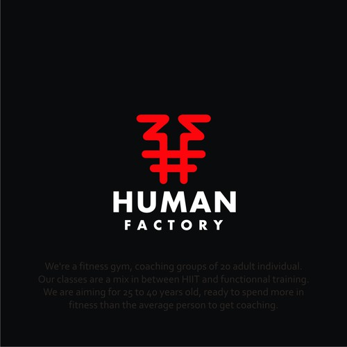 LOGO for Human Factory Fitness Gym