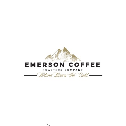 Adventurous logo for coffee roaster company