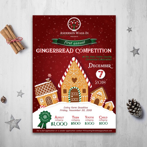 Gingerbread competition poster