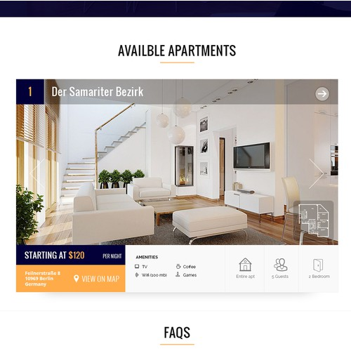 German Apartment Website