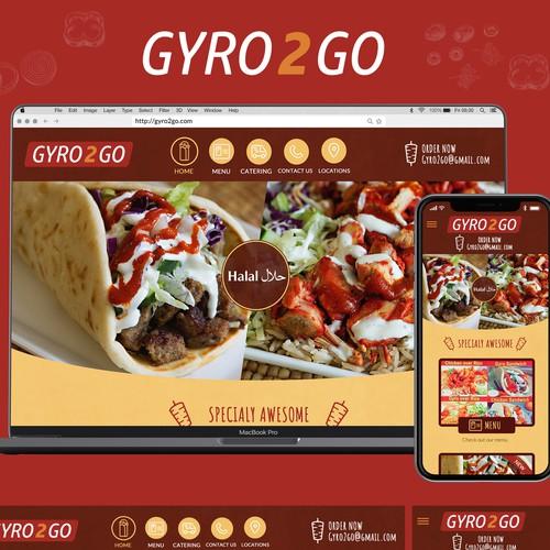 Mediterranean Fast food restaurant website