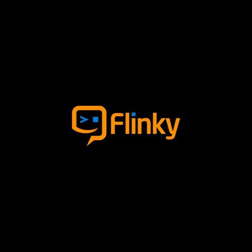 logo concept for flinky