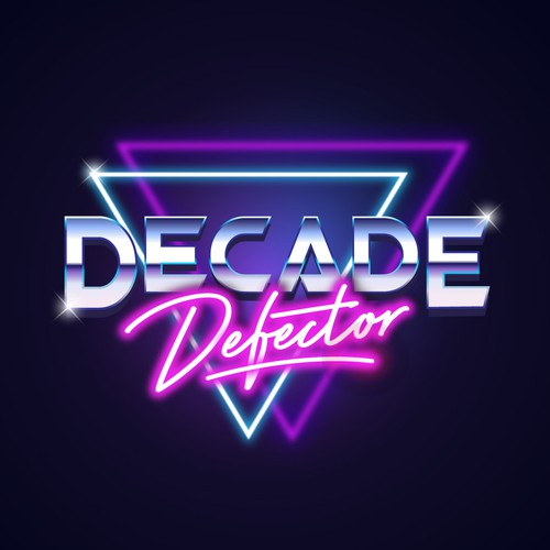 Retro Logo for Decade Defector band