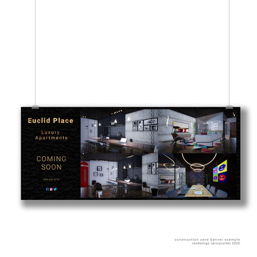 Banner Design for Euclid Place Apartments