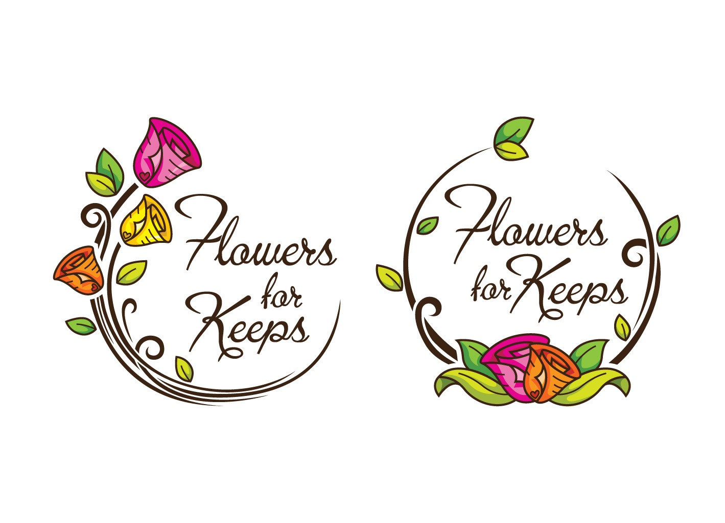 Create the next logo for Flowers for Keeps