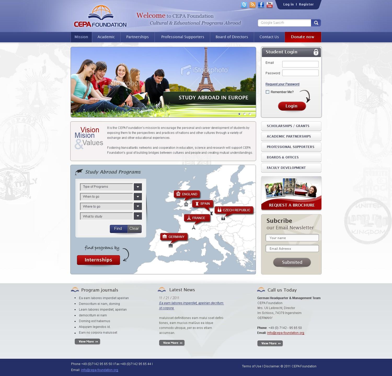 Create the next website design for CEPA Foundation