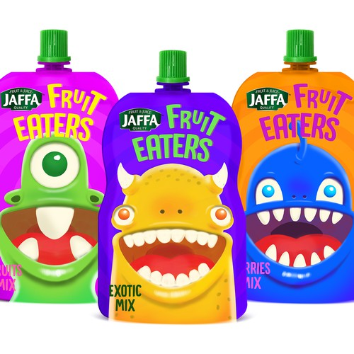 Packaging concept for a fruit drink for kids
