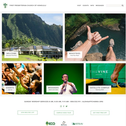 Bright and bold colors for Hawaii church