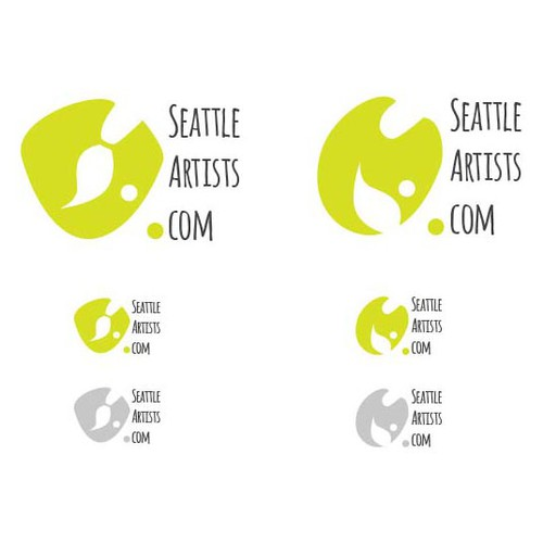 Create a fresh new logo identity for SeattleArtists.com community art organization