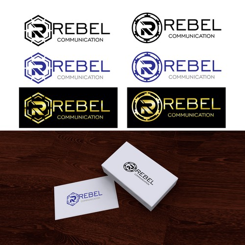 Modern logo for Rebel communications