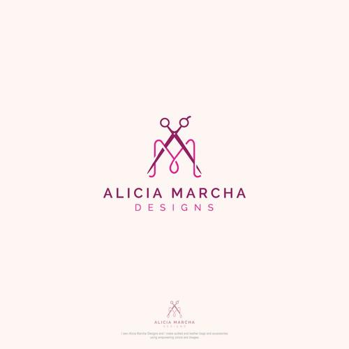 Bold logo concept for Alicia Marcha Designs