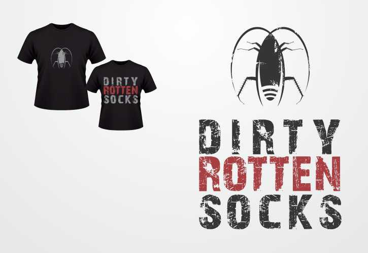 Create the next logo for Dirty Rotten Socks