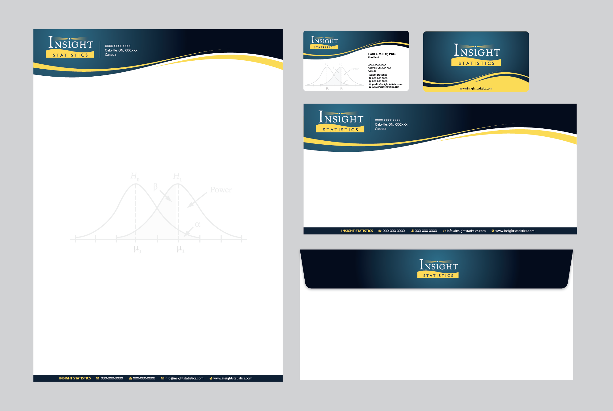 Create stationery for Insight Statistics Inc. (a cancer research company)