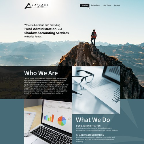 website Design for boutique Hedge Fund Administrator