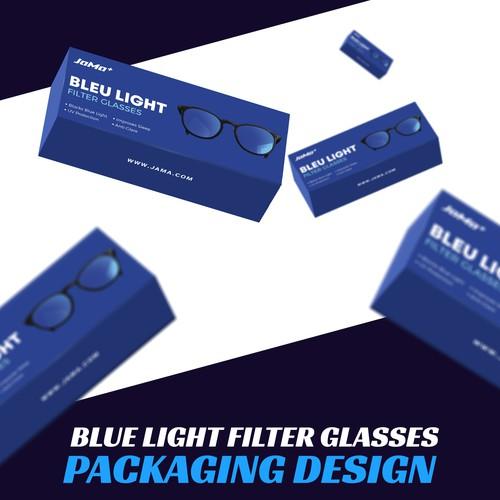 Blue Light Filter Glasses Packaging