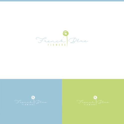 romantic logo for a flower company