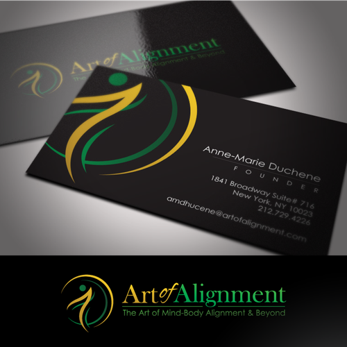 logo and business card for art of alignment
