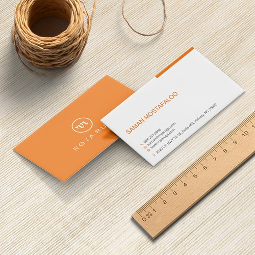 Modern Business Card for Roya Rugs