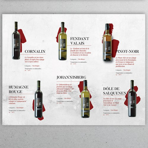 Modern Flyer for Caves Montani Winery
