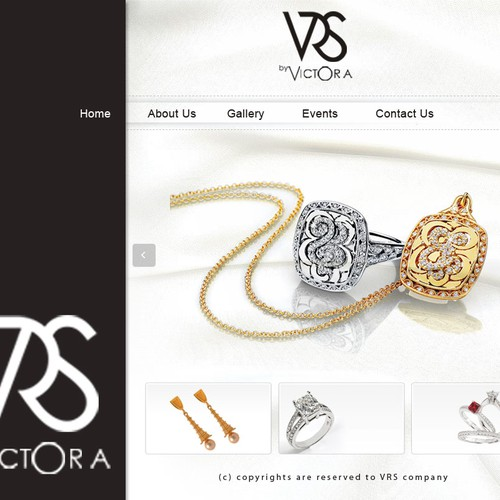 SIMPLE & elegant website for Jewelry Designer