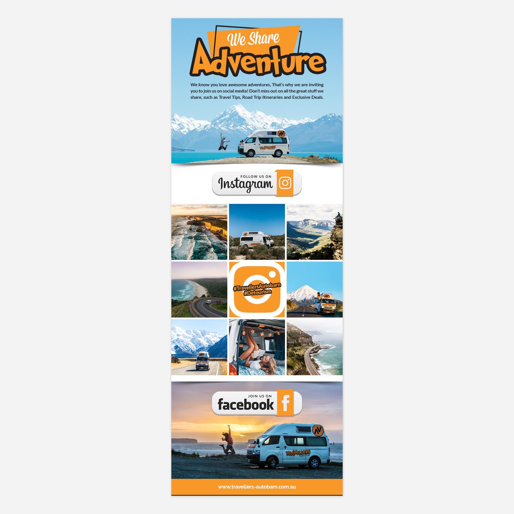 Social media invitation for campervan/travel company