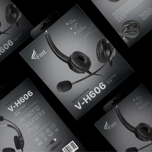 Packaging design concept for Headphone brand