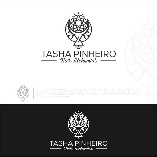 Modern, luxury, and edgy logo for a hairstylist (NO trade tools!) appealing to cool, creative women