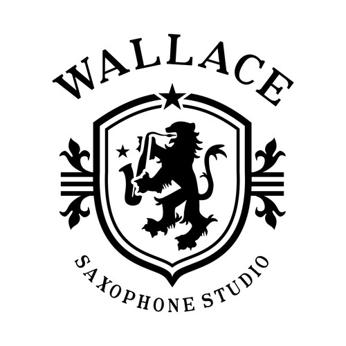 Traditional logo for saxophone studio