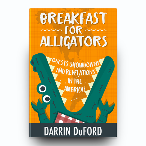 Book cover design, Breakfast for alligators