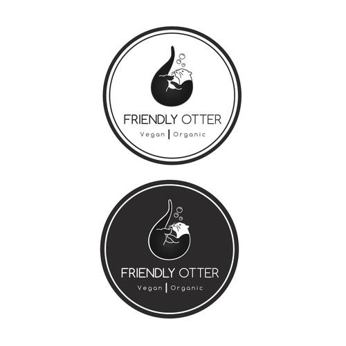 Stylish logo for Friendly Otter