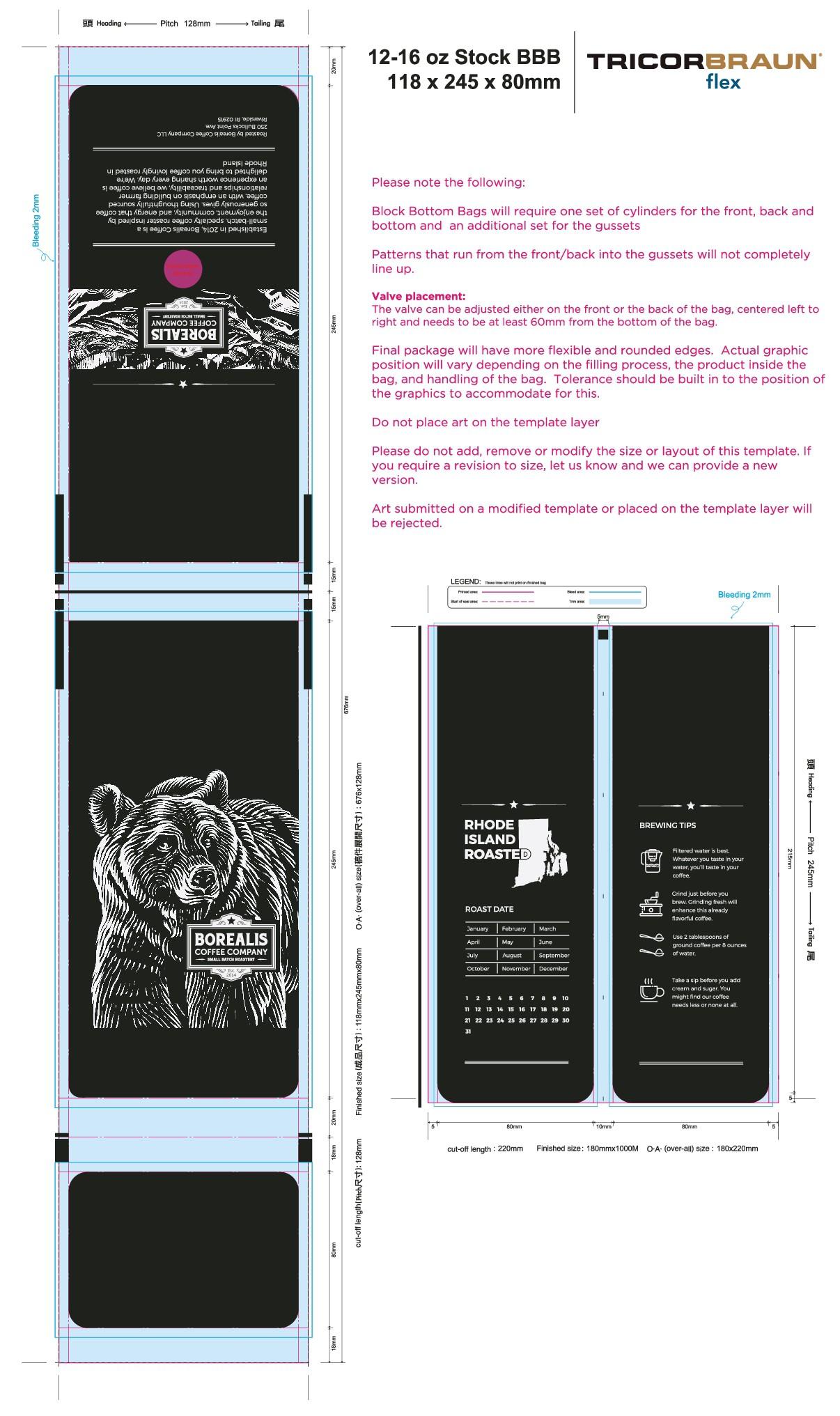 Borealis Coffee Packaging Redesign