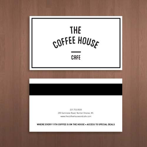 Business card The coffee house