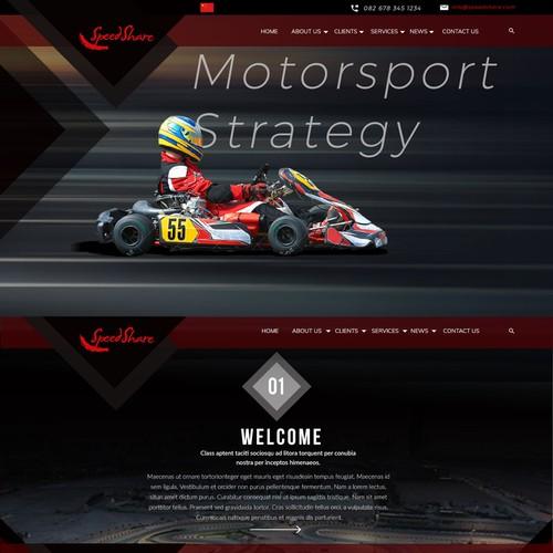 motosport wordpress design