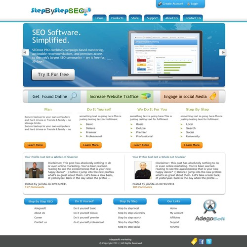 Exciting New SEO Site Needs CLEAN Web 2.0 Design Wireframes Incl