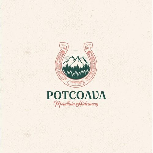 Logo concept for a Horseback Riding Center and Mountain Retreat