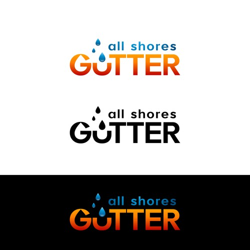 Logo design for All Shores Gutter