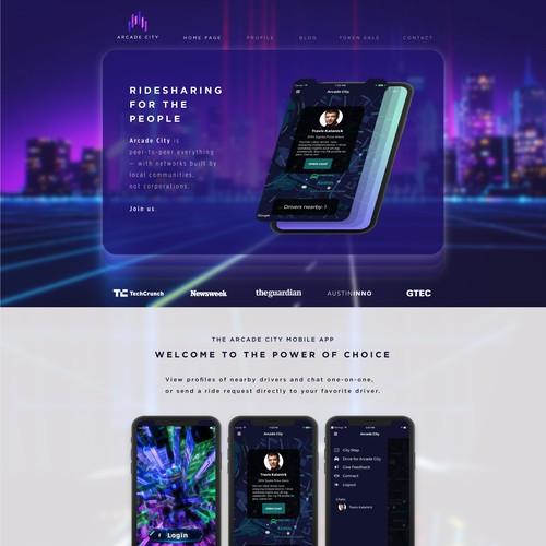 Design the new Arcade City website