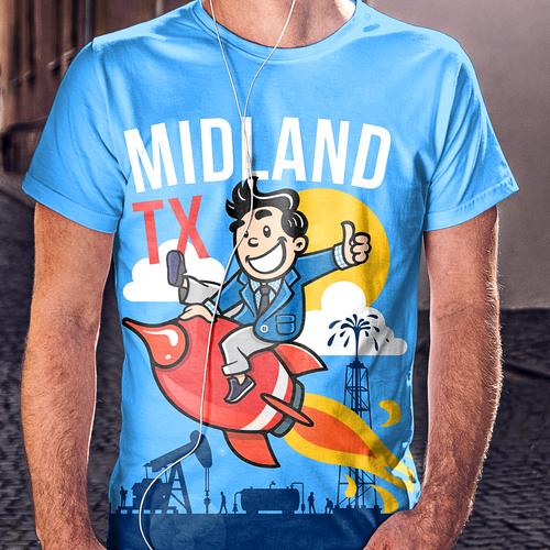 Midland TX - Character Mascot Design