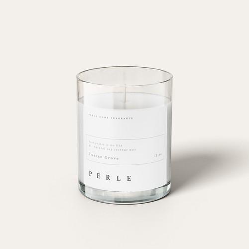 Label design for Perle Home Fragrance