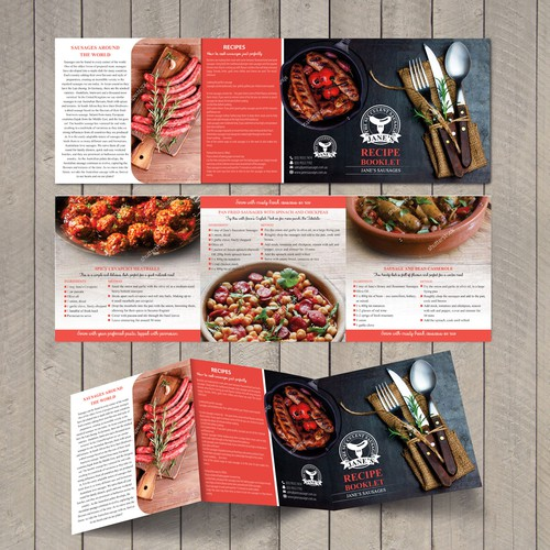 Recipe Brochure for Retail Sausage Company