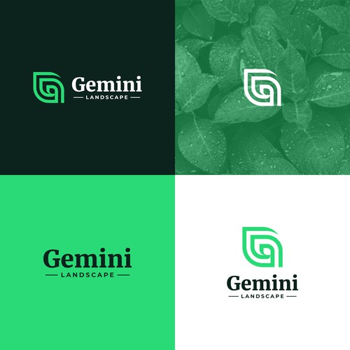 Gemini Landscape Logo Design
